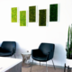 Office plant service moss wall art installation