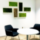 Moss wall art in office