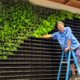 Plant Parents installing GSKy green wall living wall system indoors