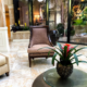 Live tropical flowers for condominium lobby