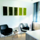 Green wall moss panels in office